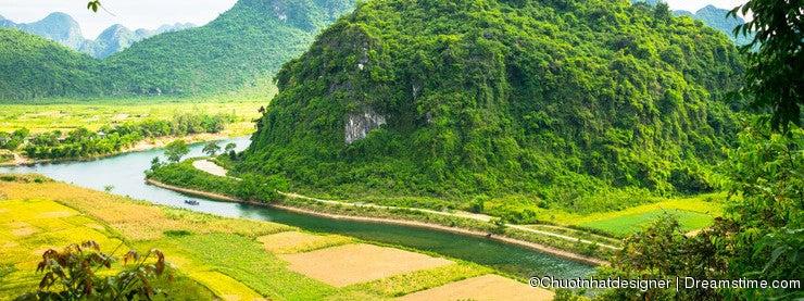 Outside Phong Nha Ke Bang natural preserve, Vietnam