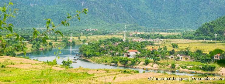 Outside Phong Nha Ke Bang natural preserve, Vietnam.