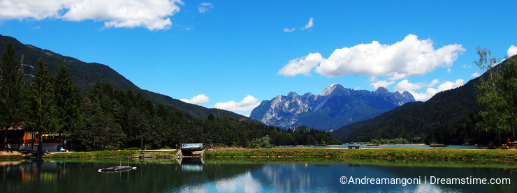 The Tudaio mountain and the Center Cadore lake