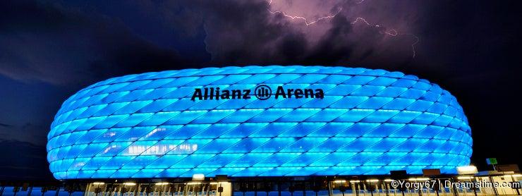 Lightning Above Allianz Arena