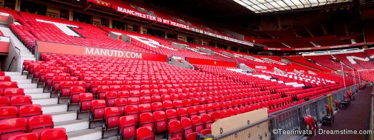 Non Match Day at Manchester United West Stand
