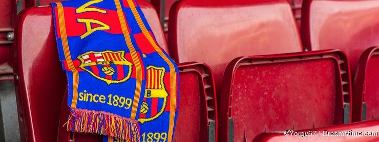 FC Barcelona Scarf on the Tribune seat