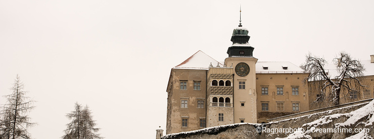 Castle in the Pieskowa Skala (Poland)