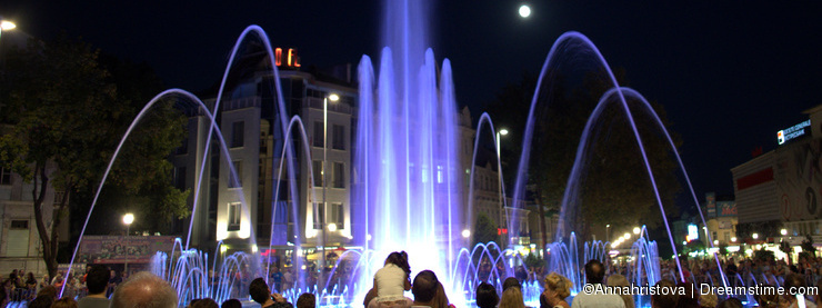 Beautiful night fountains