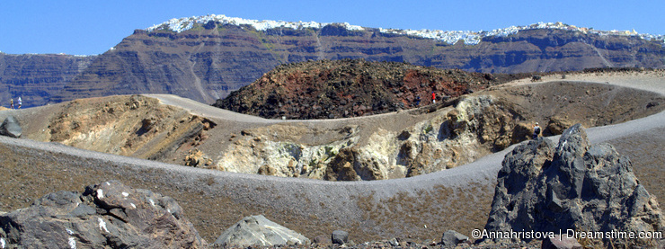 Volcanic crater, Nea Kameni Santorini