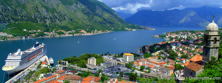 Beautiful Kotor town scenery,Montenegro