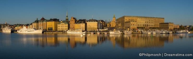 Morning colors of Stockholm, Sweden at sunrise