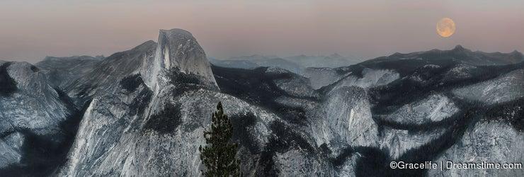 Evening view of Yosemite