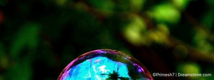 Colorful soap Bubble