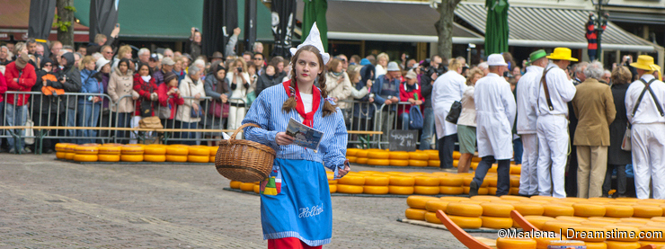 Girl, wearing traditional Netherlands Clothing