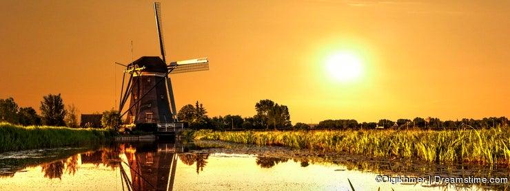 Sunrise on a Windmill