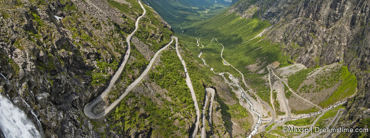 Road in Norway Trollstigen