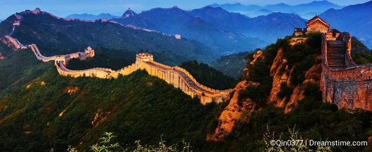 Sunrise jinshanling Great Wall