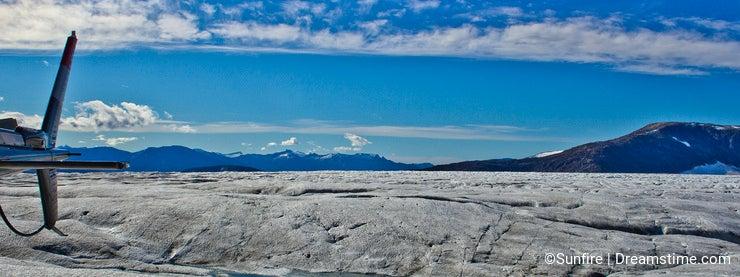 Mendenhall glacier landing site