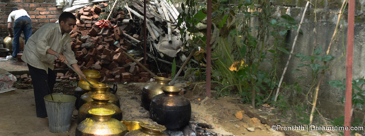 Traditional way of cooking in Himachal