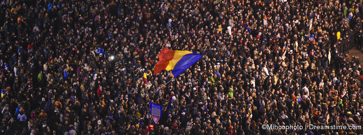 Protests in Bucharest for Colectiv victims