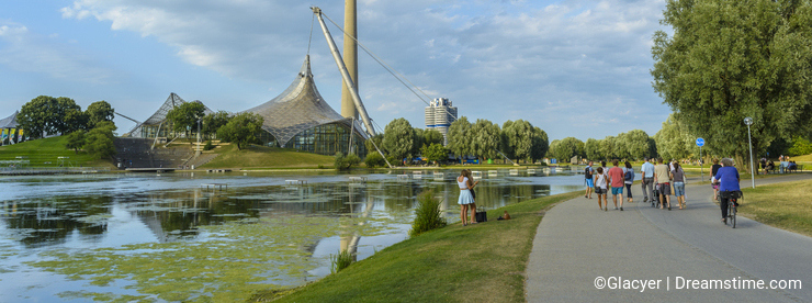 Olympiapark in Munich, Bavaria, Germany