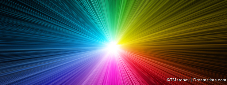 Rainbow light burst - prism