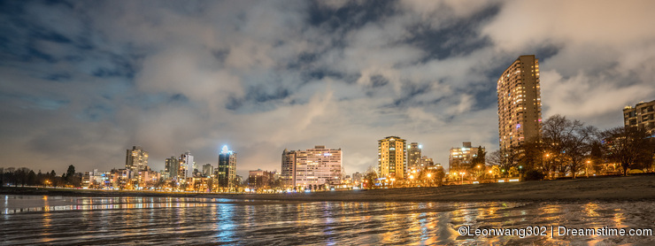 City Night on the beach