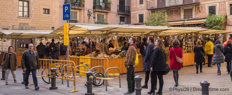 Saturday street market Barcelona