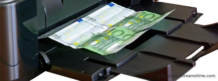 Printer printing money