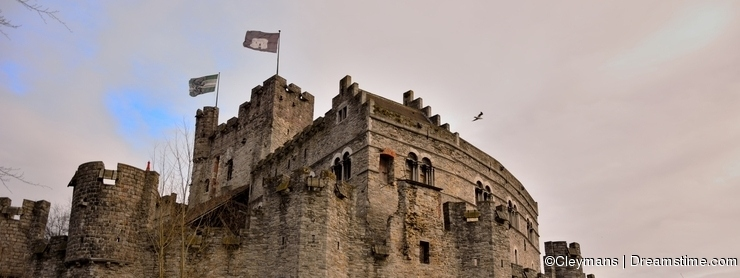The Counts (gravensteen) in Ghent is the only surviving medieval fortress in Flanders