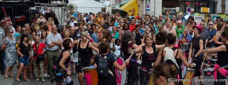 Street-Band Performing at the festival of Ghent.