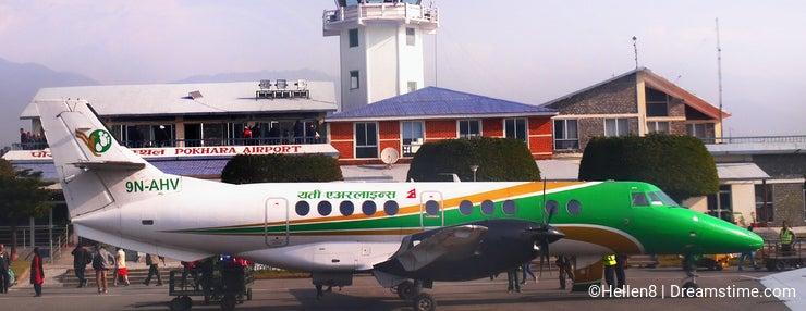 Pokhara Airport Himalayas Nepal