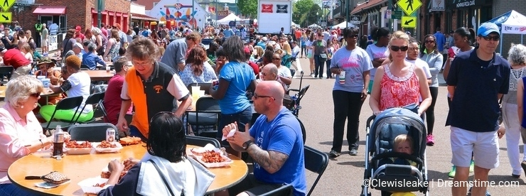 People Attend the Overton Square Annual Crawfish Festival