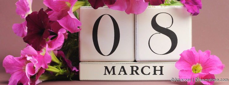 International Women's Day, March 8, calendar