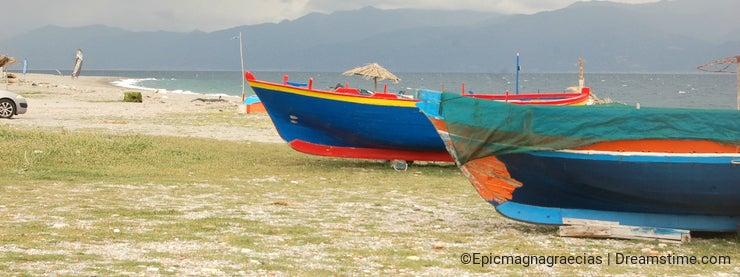 Boats on the kite beach