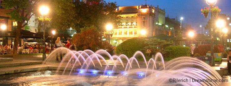 Editorial fountain Knez Mihailova St. Belgrade Serbia