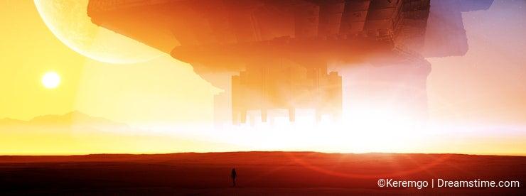 Alien Ship Arrival