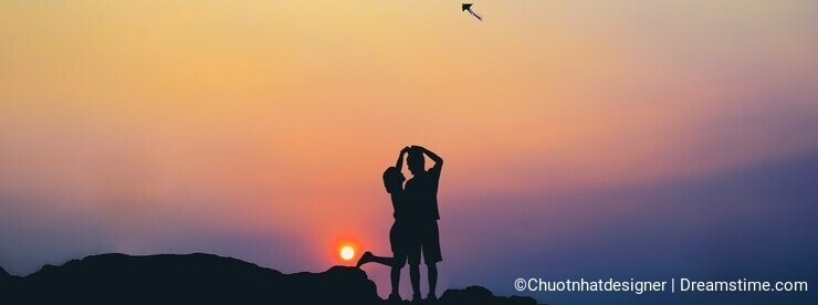 Beach Rock, Sunset on Ly Son, Vietnam