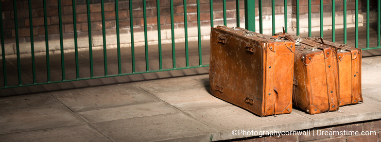 Luggage Suitcases Platform Baggage Vintage