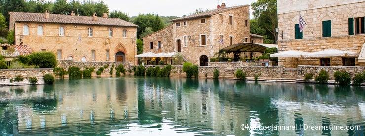 The Square of sources in Bagno Vignoni