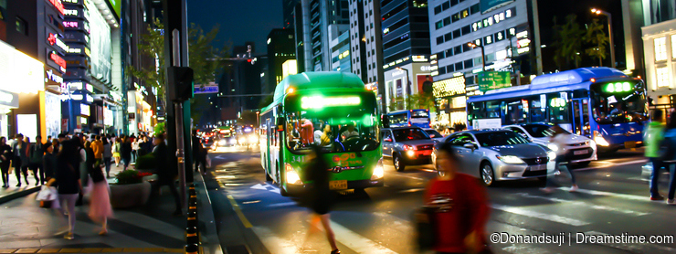 Gangnam Streets, Seoul, South Korea
