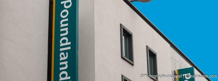 Poundland Store Sign Shop Front