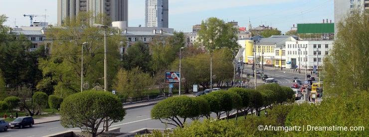 Karl Liebknecht street in Ekaterinburg