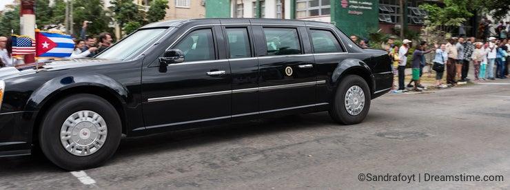The Beast - US Presidential State Car in Havana, Cuba