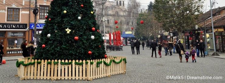 Decorated Shadrvan square in Prizren, Kosovo