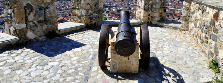 View at the Prizren city in Kosovo, from fortress
