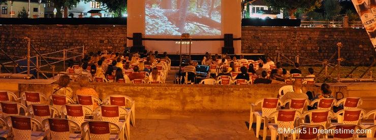 River Cinema over the Bistrica River, Prizren