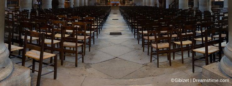 Interiors and details of Notre-Dame-de-Lorette Church - Paris - France