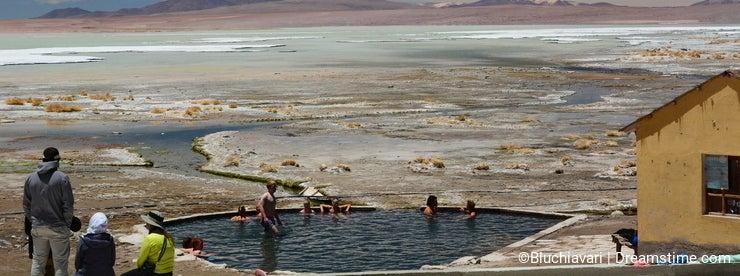 Termas de Polques. Salar de Chalviri. Eduardo Avaroa Andean Fauna National Reserve. Bolivia