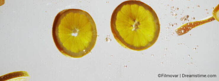 Oranges in the water