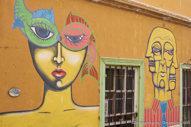 Colourful Murals of Valparaiso