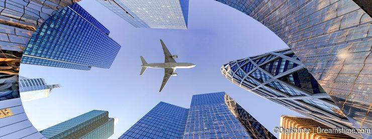 Flying on La Defense Business district