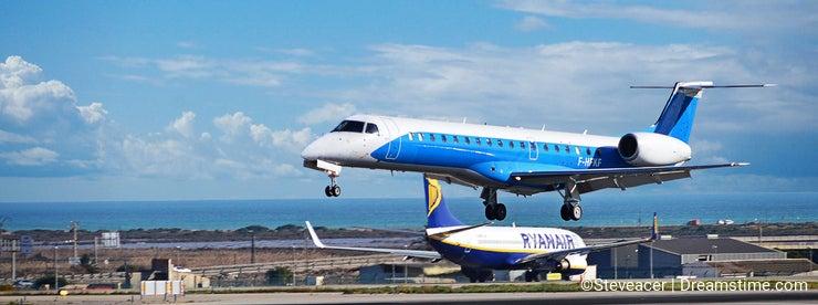 Aircraft At A Busy Airport
