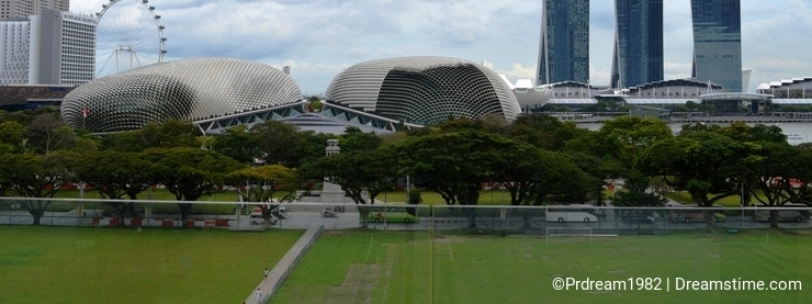 Marina Bay Sands with Singapore Flyer